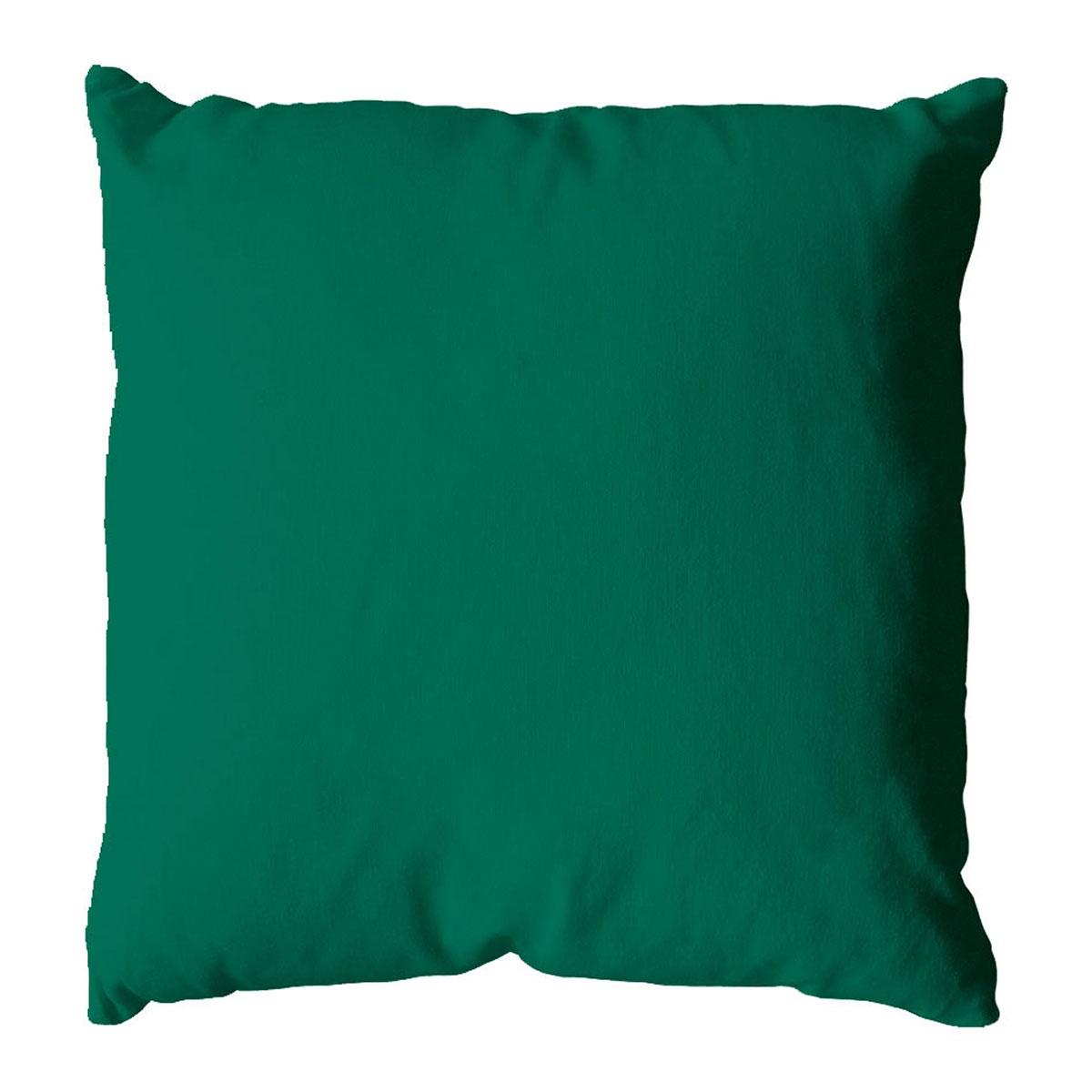 Coussin Déhoussable en Coton Vert (Vert)