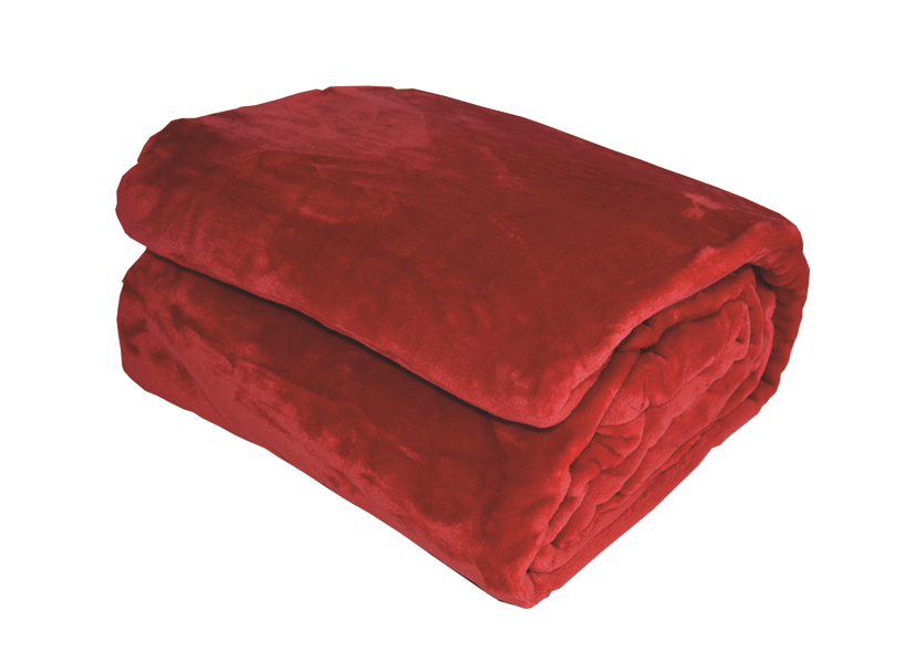 Couverture en Micro Velours Unie (Rouge)