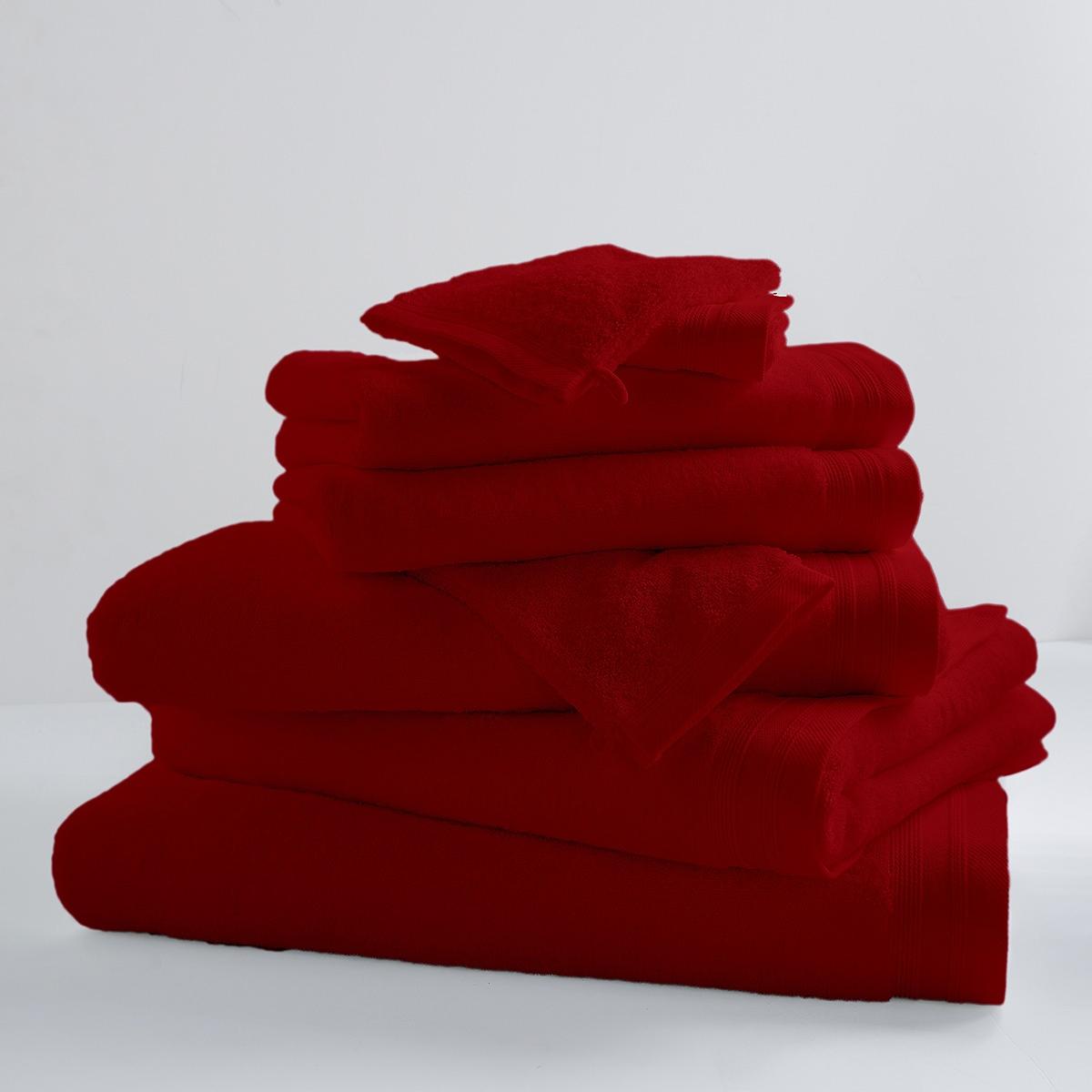 Drap De Bain Uni et Coloré (griotte)