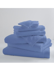Lot de 2 Serviettes De Toilette Unies et Colorées