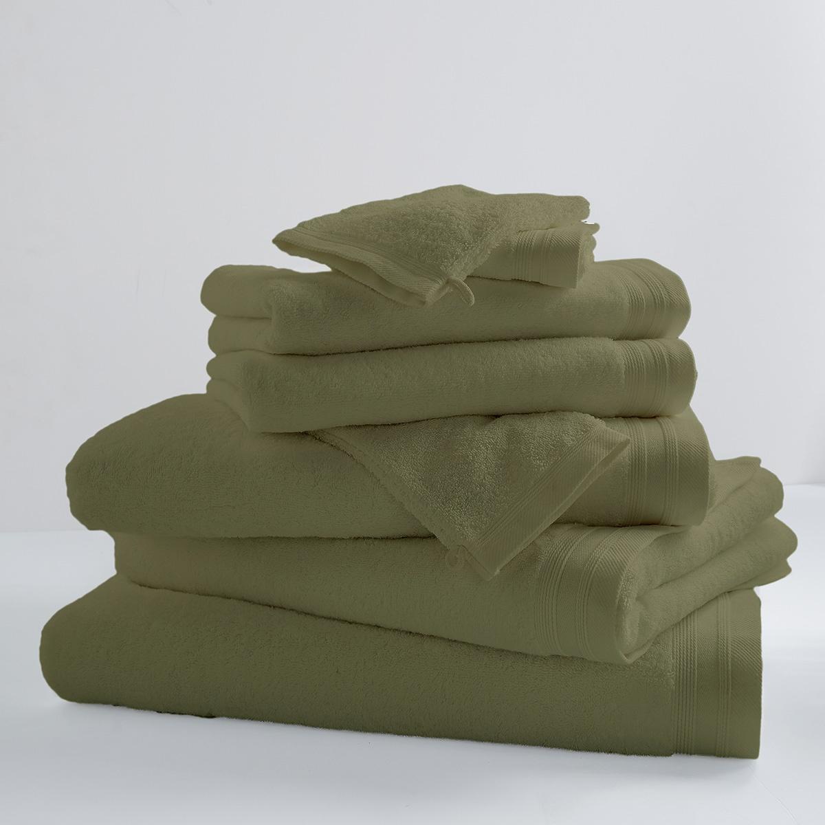 Drap De Bain Uni et Coloré (vert tilleul)