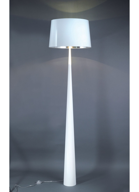 Lampadaire Forme Conique (Blanc)