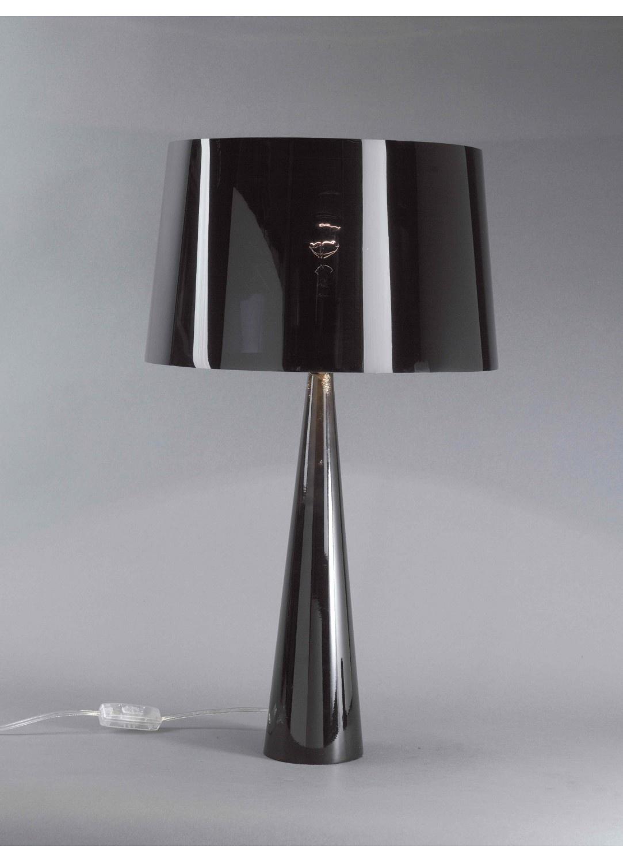 Lampe à Poser Forme Conique (Noir)