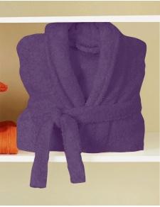 Peignoir de Bain Uni et Coloré (Violette)