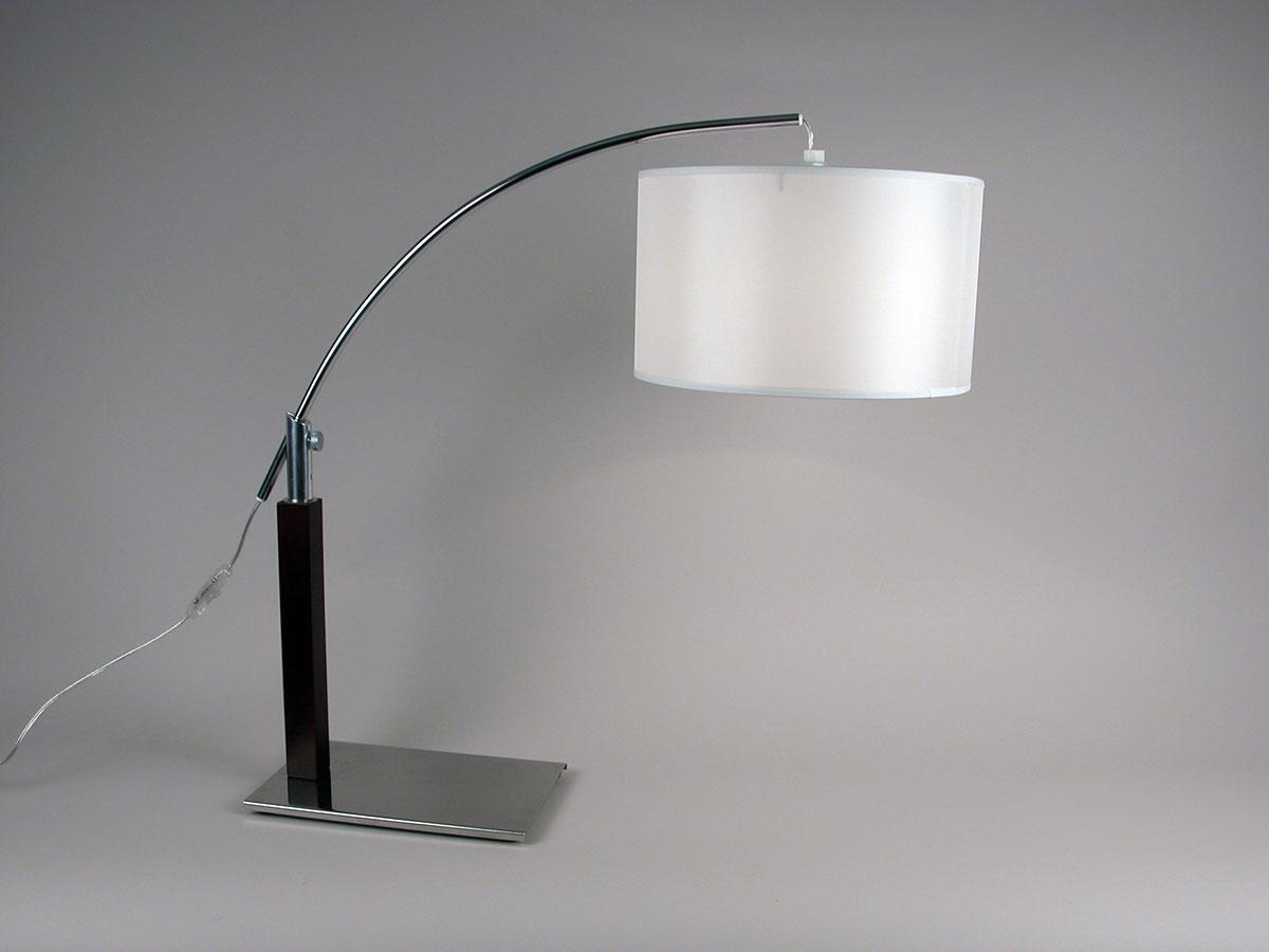 lampe poser avec bras chrom ebene chene clair homemaison vente en ligne luminaires. Black Bedroom Furniture Sets. Home Design Ideas