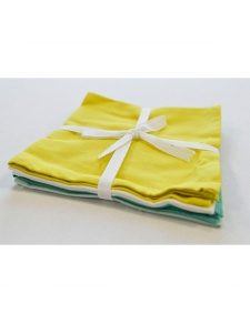 Lot de 4 serviettes de table estivales
