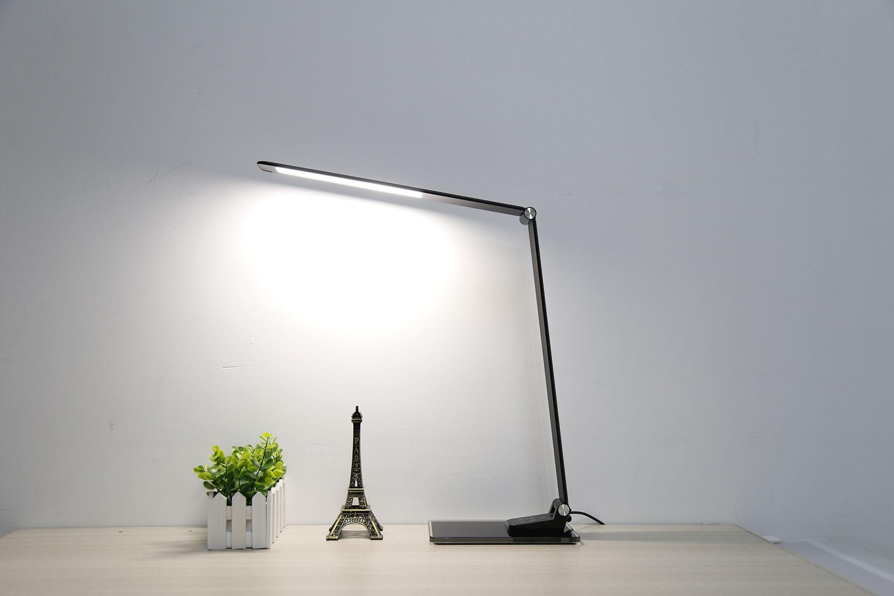 Lampe de Bureau Design avec Leds Intégrées (Noir)