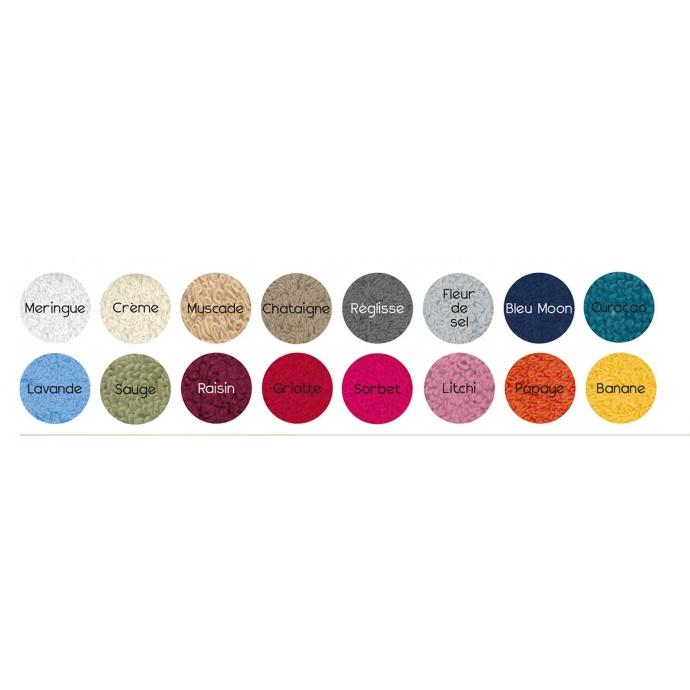 Peignoir de bain uni et coloré (Meringue)