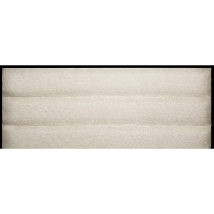 Tête de Lit à Bandes Horizontales en Velours Mat (Blanc)