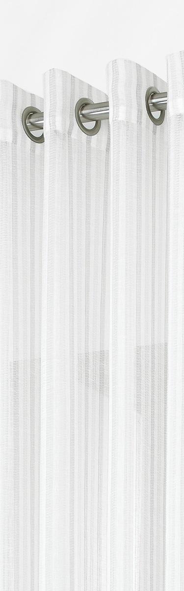 Voilage avec Rayures Verticales en Tons sur Tons (Gris)