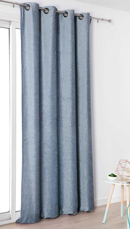 rideau aspect velours uni ciel vert emeraude gris souris moutarde beige rouge. Black Bedroom Furniture Sets. Home Design Ideas