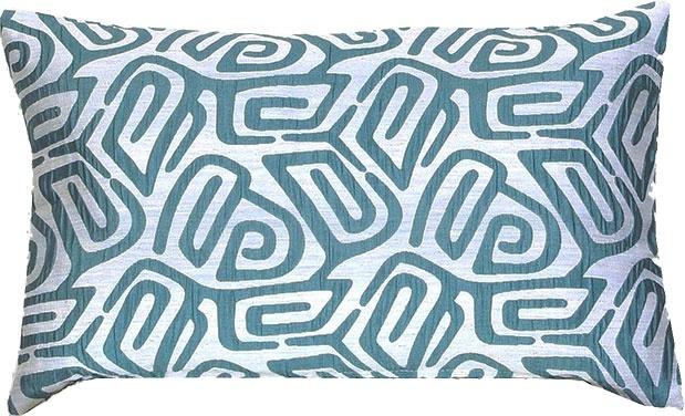 Coussin Jacquard à Motifs Géométriques (Bleu)