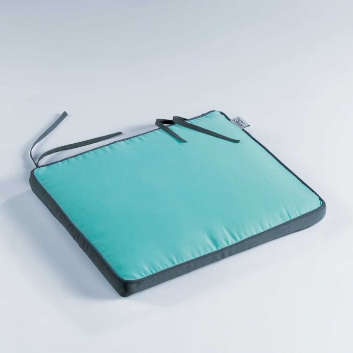 Coussin de Chaise Bicolore Outdoor (AQUA/ANTHRACITE)