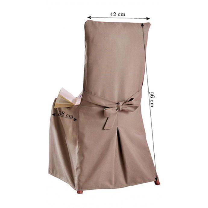 Housse de Chaise au toucher coton (Taupe)