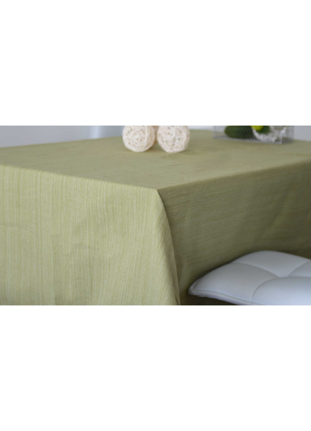 nappe rectangulaire en coton 100 recycl tilleul taupe lin gris naturel. Black Bedroom Furniture Sets. Home Design Ideas