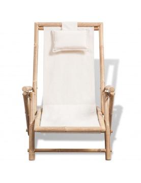 Chaise d'extérieur en bambou