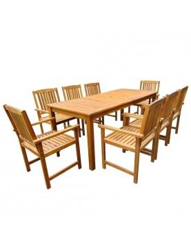 Ensemble salle à manger d'extérieur 9 pièces
