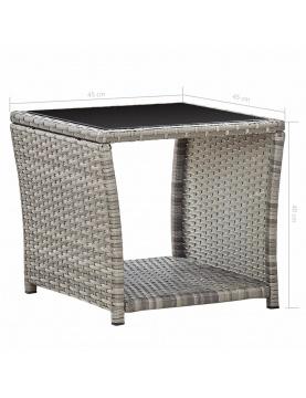 Table basse de jardin avec plateau en verre