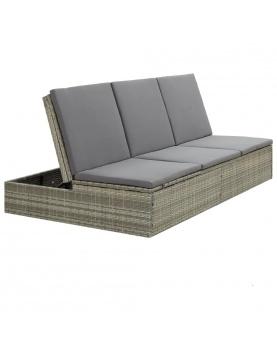Canapé de jardin convertible avec coussin