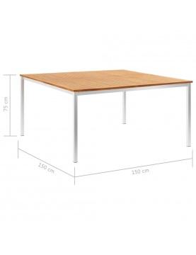 Grande table de jardin style industriel
