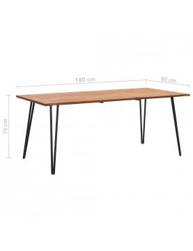 Table de jardin avec pieds épingle