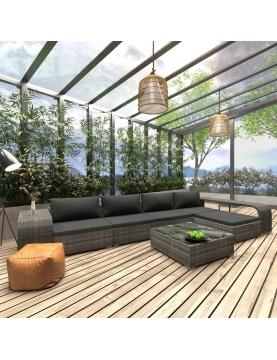 Salon de jardin moderne 8 pièces