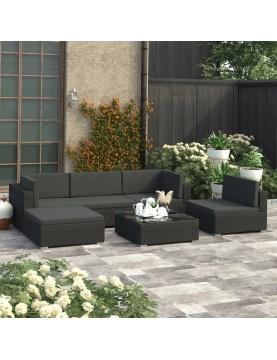 Salon de jardin moderne 6 pièces