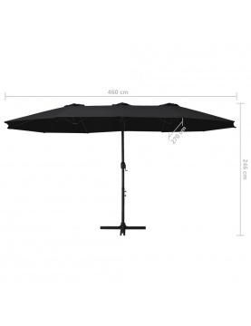 Parasol à double toit droit