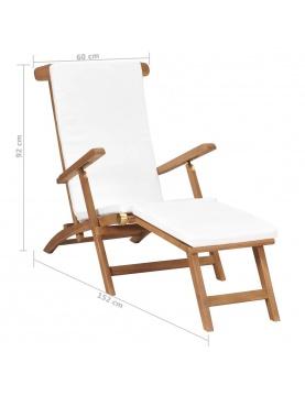 Chaise longue avec coussin