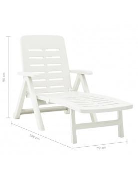 Chaise longue pliable unie