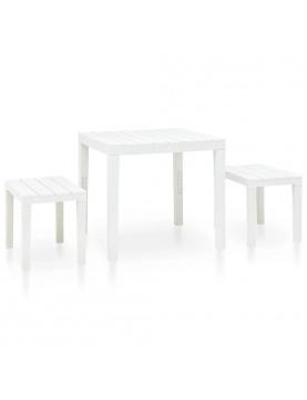 Table de jardin avec 2 bancs
