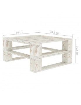 Lot de 2 tables palette de jardin