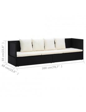 Canapé de jardin avec coussin et oreillers