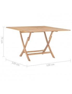 Table de jardin pliable en bois