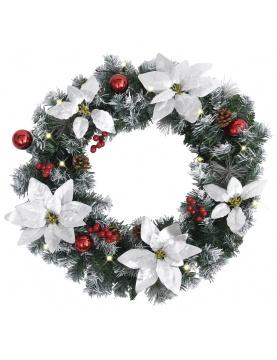 Couronne de Noël avec led