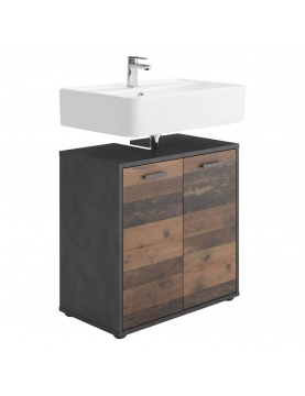 Meuble sous-lavabo en imitation chêne