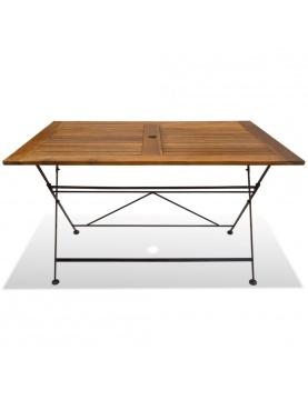 Table de jardin pliable en acacia