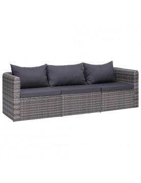Canapé d'extérieur en résine tressée
