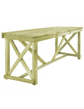 Table de jardin en bois imprégné
