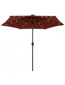 Parasol droit Ø 270 cm avec LED