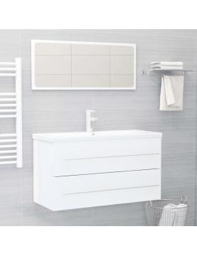 Ensemble meuble de bain et son miroir