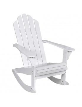 Rocking chair de jardin en bois