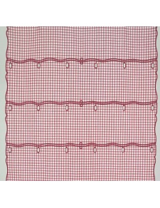Tissu Vichy en 100% Polyester (Rouge)