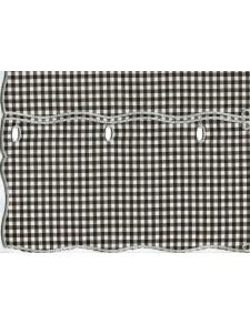 Tissu Vichy en 100% Polyester (Gris)