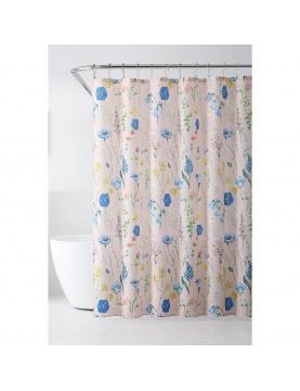 Rideau de douche aux fleurs champêtres