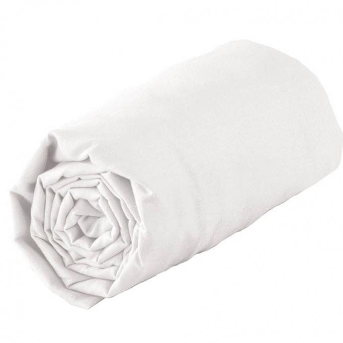 Drap housse tradi bordé biais 140 x 200 cm (Blanc)