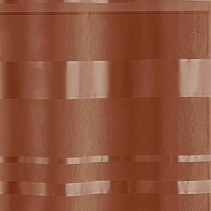 Voilage tamisant à rayures horizontales (Terracota)