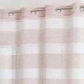 Voilage à rayures horizontales colorées (Rose)