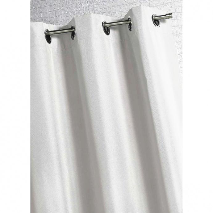 Rideau d'extérieur en tissu outdoor (Blanc)