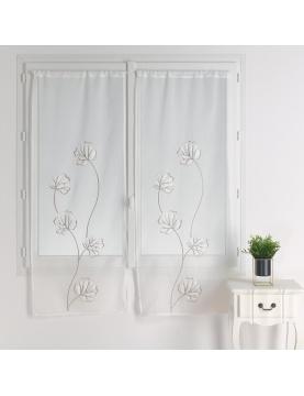 Paire de vitrages au style floral